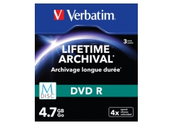 Диск DVD-R Verbatim 4.7Gb 4x Slim case (3шт) Printable (43826)