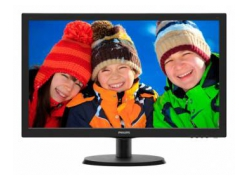 Монитор Philips 21.5″ 223V5LSB (10/62) черный TN+film LED 5ms 16:9 матовая 250cd 1920x1080 D-Sub 2.61кг
