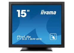 Монитор Iiyama 15″ T1531SR-B5 черный TN LED 8ms 4:3 HDMI M/M матовая 700:1 370cd 170гр/160гр 1280x768 D-Sub DisplayPort HD READY Touch 4.8кг