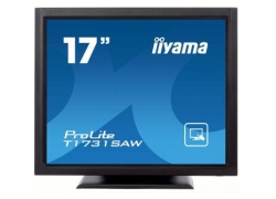 Монитор Iiyama 17″ T1731SAW-B1 черный TN LED 5ms 5:4 DVI M/M матовая 250cd 170гр/160гр 1280x1024 D-Sub HD READY USB Touch 5.8кг