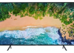 Телевизор LED Samsung 65″ UE65NU7100UXRU черный/Ultra HD/1400Hz/DVB-T2/DVB-C/DVB-S2/USB/WiFi/Smart TV (RUS)