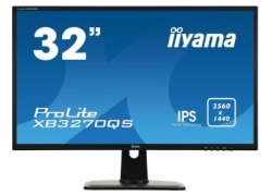 Монитор Iiyama 32″ ProLite XB3270QS-B1 черный IPS 4ms 16:9 DVI HDMI M/M матовая HAS Pivot 1200:1 300cd 178гр/178гр 2560x1440 DisplayPort