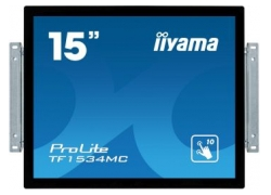 Монитор Iiyama 15″ TF1534MC-B5X черный TN LED 8ms 4:3 HDMI матовая 700:1 370cd 170гр/160гр 1024x768 D-Sub DisplayPort HD READY Touch