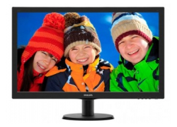 Монитор Philips 27″ 273V5LSB (00/01) черный TN+film LED 5ms 16:9 DVI матовая 300cd 1920x1080 D-Sub FHD 4.53кг